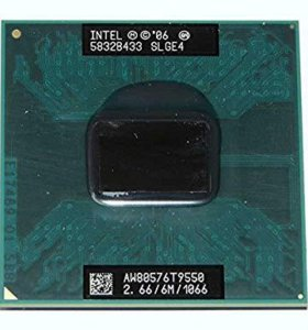 Intel Core 2 Duo Mobile T9550 AW80576 SLGE4