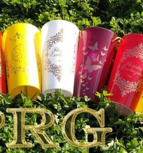 Конусы пластиковые для цветов и букетов