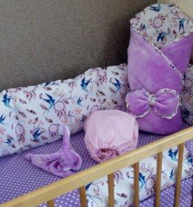 Слитные бортики в кроватку