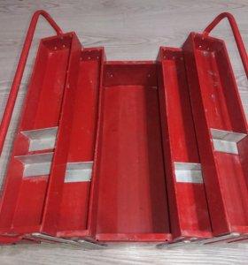Ящик для инструмента металлический, раскладной