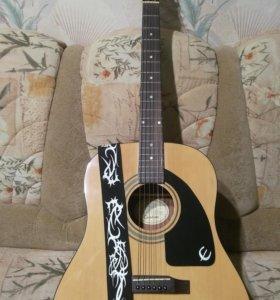Гитара акустическая, Epiphone модель AJ-100NA.