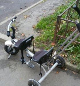 Велосипед для двойни или погодок