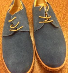 Туфли мужские темно-бирюзовые новые замша 41 раз.