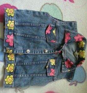 Джинсовый костюм на девочку 2 -3 лет