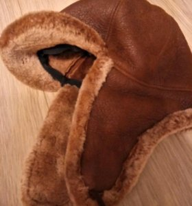 Шапка шлем ушанка натуральный мех