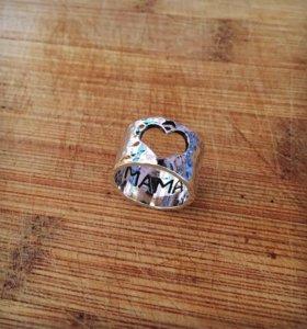 Кольцо 'Мама' 🔹Новое🔹 Серебро 925
