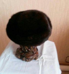 Берет женск.норка коричнев р 57