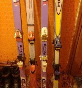 Комплект горных лыж