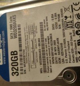 WD blue жесткий диск на 320 гб