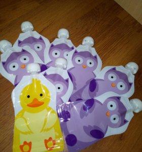 Многоразовые пакеты дой-пак для детского пюре