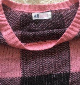 Укорочённый свитер H&M,мягкий и тёплый ,42-46