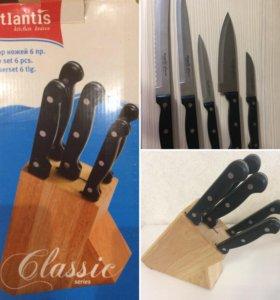 Ножи и подставка. Набор ножей