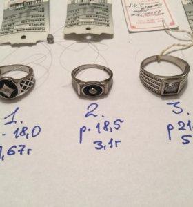 Печатка мужская серебро, новая
