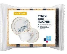 Губка для посуды 4 шт
