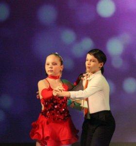 Платье для спортивных бальных танцев латина ю2