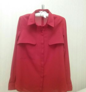Блузка-рубашка, хор.сост. Размер 44-46.
