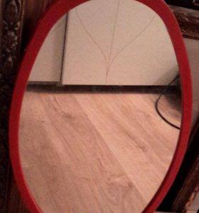 Зеркало овальное подвесное