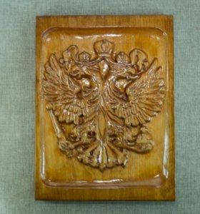 Двуглавый орёл, резьба по дереву