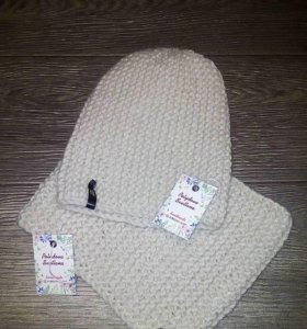 шапки бини, снуды, варежки и носочки на заказ