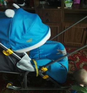 Продам санки коляску Ника 7-2, состояние идеальное