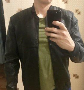 Куртка кожаная Colins новая