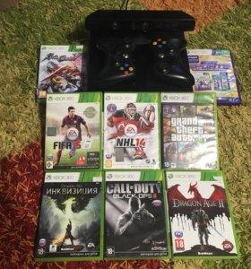 Xbox 360 + Kinect + 10 игр