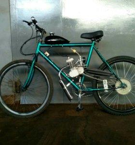 Велосипед с мотором f50.
