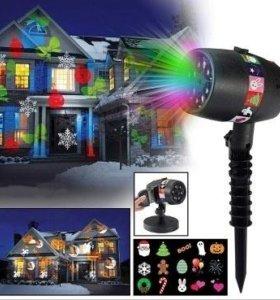 Лазерный проектор с 12 слайдами