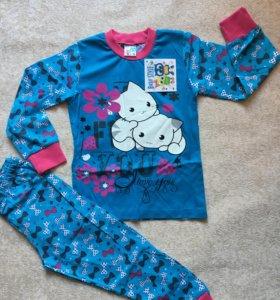 Пижама для девочки размеры 3, 4, 5, 6, 7 лет