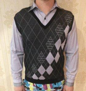 Обманка рубашка с джемпером