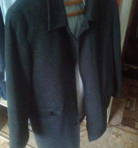 Зимнее пальто шерстяное-махеровое