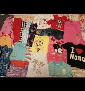 Пакет вещей на девочку 86-98
