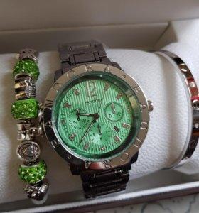 Часы Pandora + браслет подарочная упаковка pandora