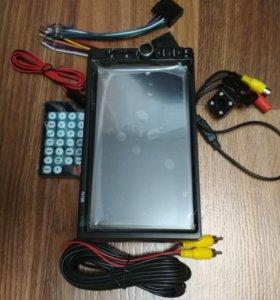 Новая 2 дин магнитола с камерой заднего вида
