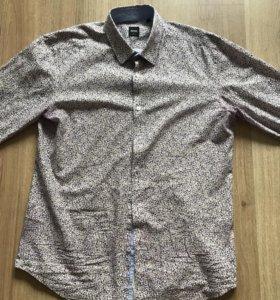 Рубашка HUGO BOSS (оригинал) размер (L)