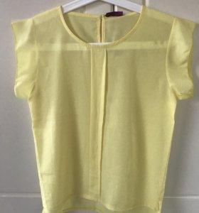 Блуза футболка желтая новая