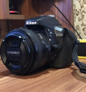 Nikon D5300 AF-P 18-55mm + фикс объектив 35мм