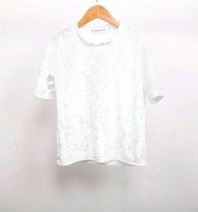 Вельветовая короткая футболка