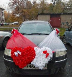 Украшения на свадебное авто