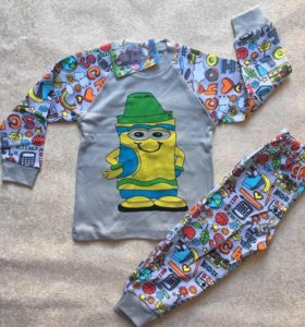 Пижама трикотажная (интерлок) Возраст: 1, 4 года