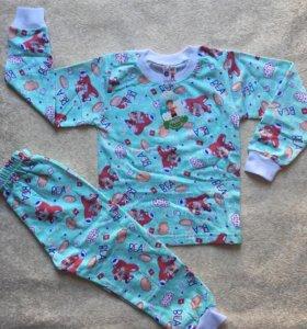 Пижама с начесом На 4, 5 лет