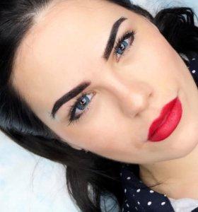 Перманентный макияж, татуаж, брови, глаза, губы