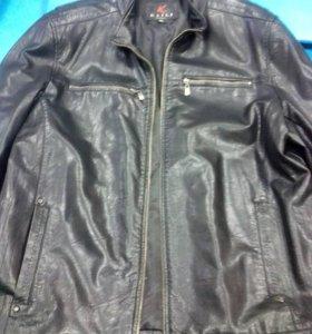 Куртка кожа могло б/у размер 54-56