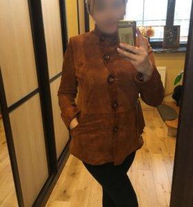 Куртка коричневая замша. Куртка чёрная нубук. Торг