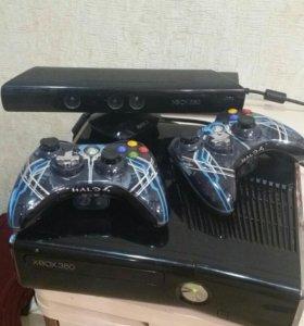 Xbox360s + kinnect + более 50 топовых игр