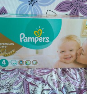 Подгузники pampers premium care 4 104шт