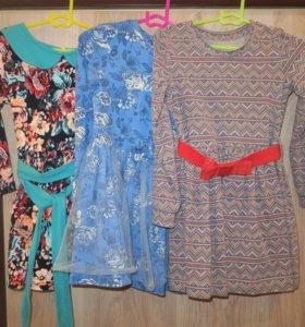 Платья для сада и туника джинсовая