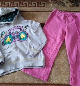 Штаны и кофта на девочку (2-3 года)