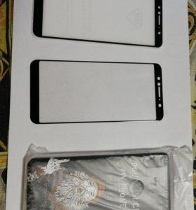 Чехол и 2 стекла Для Asus Zenfone Max Pro M1