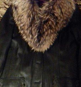 Куртка кожа(осень-зима)